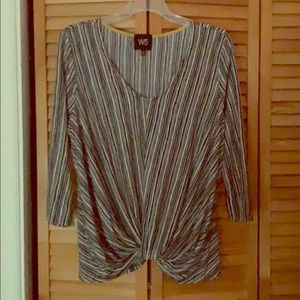 Striped and knitted blouse.  Large